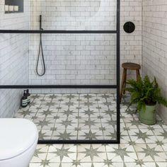 Ca' Pietra Spitalfields Ceramic, Retro Star Sage. A wet fern. Ceramic Floor Tiles, Bathroom Floor Tiles, Tile Floor, Floor Grout, Tile Bathrooms, Bathroom Red, Modern Bathroom, Bathroom Ideas, Bathroom Marble