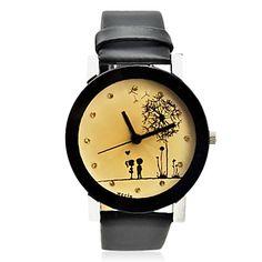 Unisex-romantischen Stil pu-Band Quarz-Armbanduhr (farbig sortiert) – EUR € 5.99