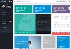Webarch is a responsive admin template that offers support for right-to-left languages as well