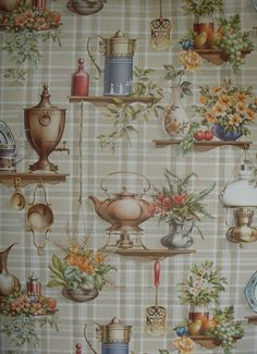 Vintage Kitsch  Coloroll Spritz Washable Wallpaper x 2 Rolls - 80 s