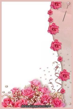 Framed Wallpaper, Flower Background Wallpaper, Frame Background, Flower Backgrounds, Paper Background, Boarder Designs, Page Borders Design, Boarders And Frames, Scrapbook Patterns