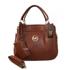 Mk Bags Michael Kors Logo With a packet Large Brown Satchels Michael Kors Clutch, Michael Kors Purses Outlet, Cheap Michael Kors, Michael Kors Shoulder Bag, Handbags Michael Kors, Brown Satchel, Brown Leather Backpack, Leather Crossbody Bag, Crossbody Bags