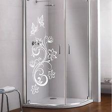 Glas dekor aufkleber fensterbild duschkabine dusche for Fenster 90x90