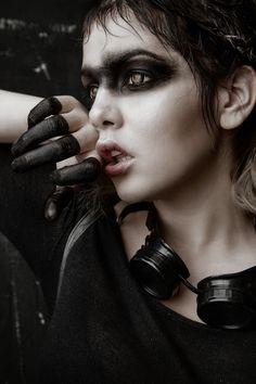 """Dark Soul"" — Photographer: Anja Ekstrøm Makeup: Romina Alvarez Model: Topaz Arbell #fashion #beauty #portrait"