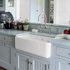 Farmhouse Kitchen Sinks 1912 kitchen sink. notice a stool. i guess a lot of time was spent
