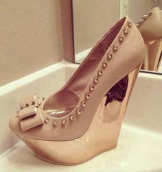 Pink gold heels