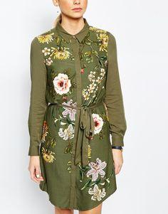 Oasis | Oasis - Opium - Robe chemise imprimée en viscose chez ASOS