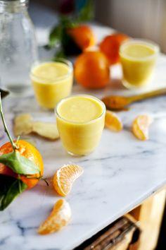 Smoothie clémentine, ananas, curcuma et eau d'érable © Emiliemurmure