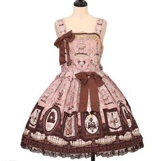 Worldwide shipping available ♪  Musee du Chocolatジャンパースカート+ボンネットセット   Angelic Pretty| アンジェリックプリティ  https://www.wunderwelt.jp/en/products/w-23416    IOS application ☆ Alice Holic ☆ release  Japanese: https://aliceholic.com/  English: http://en.aliceholic.com/