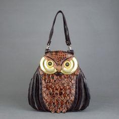 Сумка-рюкзак сова Braccialini коричневая