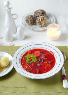 Barszcz ukraiński - traditional Polish beetroot soup