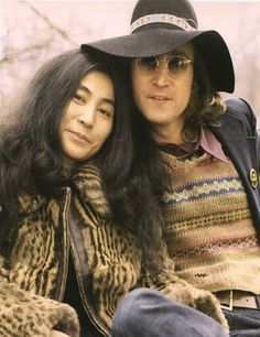 John and Yoko. Don't know about Yoko vs. the Beatles, but John defended her at every turn and they made a very cute couple :) John Lennon Yoko Ono, Jhon Lennon, Pop Rock, Joko, Famous Couples, The Fab Four, Wife And Girlfriend, Ringo Starr, Paul Mccartney