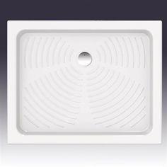 Stella 100x80 cm. -Brusekar fremstillet i porcelæn i smukt design.  DESIGN4HOME #brusekar #brusebund #badeværelse Design