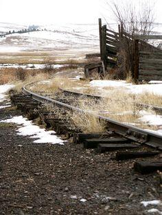 Old stockyard next to abandoned railway.