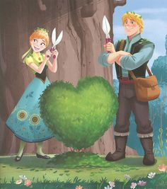 Anna and Kristoff Spring Picnic {scans from nlsteph}