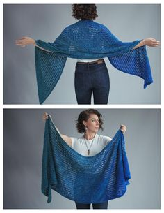 Palette Shawl - Easy Beginner Knitted Wrap Pattern - Expression Fiber Arts A Positive Twist on Yarn Beginner Knitting Patterns, Easy Knitting Projects, Knitting Blogs, Knitting For Beginners, Knitting Yarn, Knit Patterns, Free Knitting, Knitting Stitches, Knit Wrap Pattern