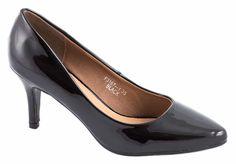 Pantofi cu toc - Pantofi negri cu toc F3167-1N - Zibra
