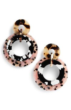 Main Image - Lele Sadoughi Banded Hoop Earrings