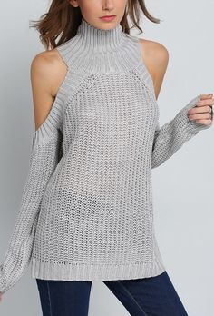 Feeling sexy in this off-the-shoulder sweater by SheIn!