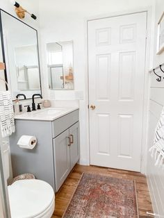 Small Bathroom Remodel Ideas: Befor and After Diy Bathroom Remodel, Bathroom Renos, Ikea Bathroom, Bath Remodel, Bathroom Furniture, Bathroom With Wood Floor, Small Shower Remodel, Condo Bathroom, Shiplap Bathroom