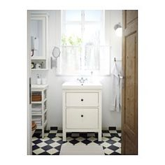 HEMNES / ODENSVIK Mască lavoar+2sertare - alb - IKEA