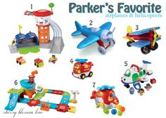 Favorite Airplane & Helicopter Toys for Toddlers