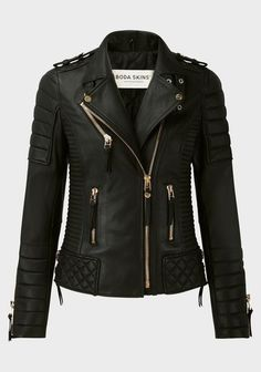 Leather Casual Winter Solid Coats & Jackets for Women Badass Style, My Style, Coats For Women, Jackets For Women, Italian Leather Jackets, Jacket Style, Motorcycle Jacket, Moto Jacket, Designing Women