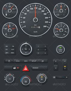 Realistic Car Dashboard - GraphicRiver Item for Sale