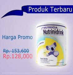 #ProdukSusu terbaru dari #Nutricia Nutrinidrink, rasa Vanila, 400gr hanya Rp.128rb