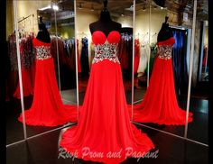 Strapless Red Jersey Long Dress