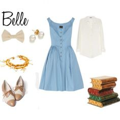 Outfit inspired by #Belle #Disney #Princess