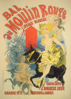 Cabaret poster by ... HENRI de TOULOUSE - LAUTREC .... 11/24/1864 - 9/9/1901