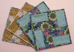 Quilted Snack Mat quilted mug rugs snack mat by WarmandCozyQuilts #pcfteam