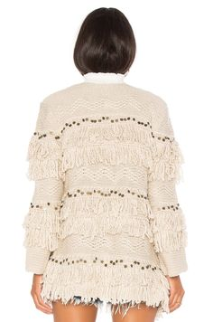 Jen's Pirate Booty Moroccan Shag Jacket in Oatmeal | REVOLVE