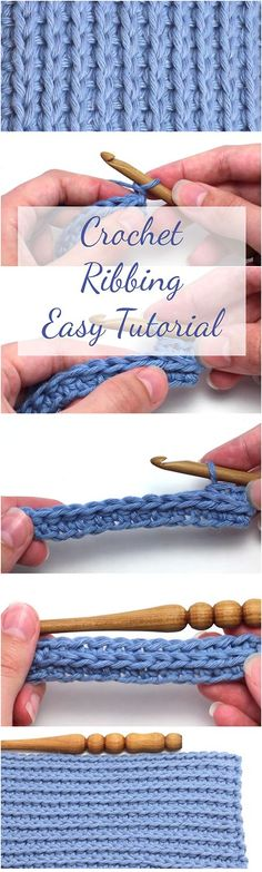 Crochet Ribbing Easy Tutorial