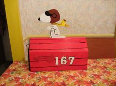 Handmade custom designed cartoon Red Baron dog by tomscraftcastle, $110.00