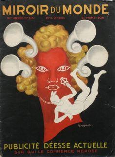 Miroir du monde Cover Magazine 1936 poster by Cappiello Leonetto