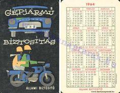 1964 - 1964_0160 - Régi magyar kártyanaptárak Pocket Calendar, Bicycle, Album, Retro, Cards, Pockets, Pocket Diary, Bike, Bicycle Kick