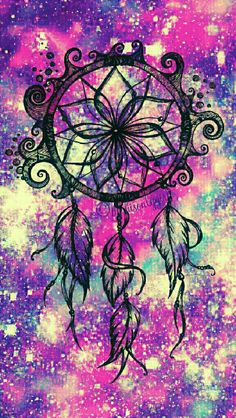 Dreamcatcher waves galaxy iPhone/Android wallpaper I created for the app CocoPPa.