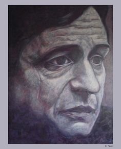 Johnny Cash. Oilpainting D. Pauer. siebenspiegel agency. For sale!