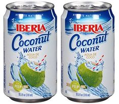 Iberia Coconut Water with Pulp, fl oz, Agua de Coco cans) *** Check out this great article. Coconut Drinks, Coconut Water, Coconut Milk, Coconut Cream, Juice, Canning, Check, Image, Savory Snacks