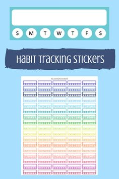 printable habit tracking stickers.  works perfect for erin condren life planner.
