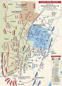 Battle of Fredericksburg, VA Meade and Gibbon Advance - December 1862 Battle Of Fredericksburg, Fredericksburg Virginia, Us History, American History, Union Army, America Civil War, Civil War Photos, Historical Maps, American Revolution