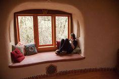 Huge window seat/reading nook