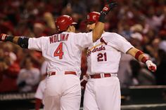 Craig congratulating Yadi on his homer 9/28/12.