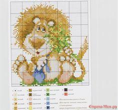 Cross-stitch Cute Lion, part 2... Gallery.ru / Фото #21 - вышивка схемки разное - pedak