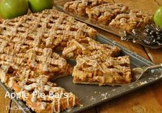 Apple Pie Bars Recipe - TheBakingPan.com - How to Make Apple Bars  When fall arrives, crisp apples of every color and variety begin to show up in the markets.  Celebrate the season with Apple Pie Bars made with a sweet buttery crust and finished with a Vanilla Glaze drizzle.