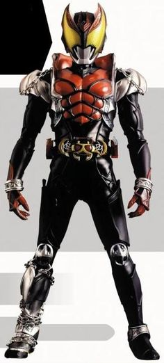Kamen Rider Kiva. I have yet to watch this show. (On my list along with BLACK, Amazon and Ryuki.) but I love the vampire and bat motif. Awesome looking Rider.