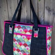 Goin' Uptown Tote Pattern - two pretty poppets