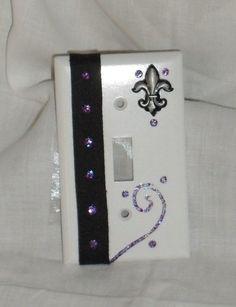 Fleur de Lis Light Switch Plate by detailshop on Etsy, $4.00